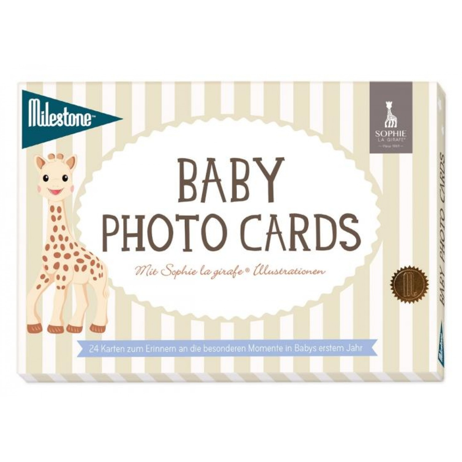 Baby Photo Cards Sophie la girafe / Milestone