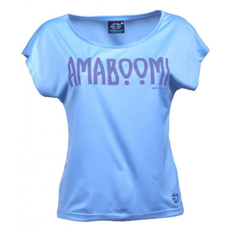 Damen T-Shirt ARAL 100% recycled – Azurblau