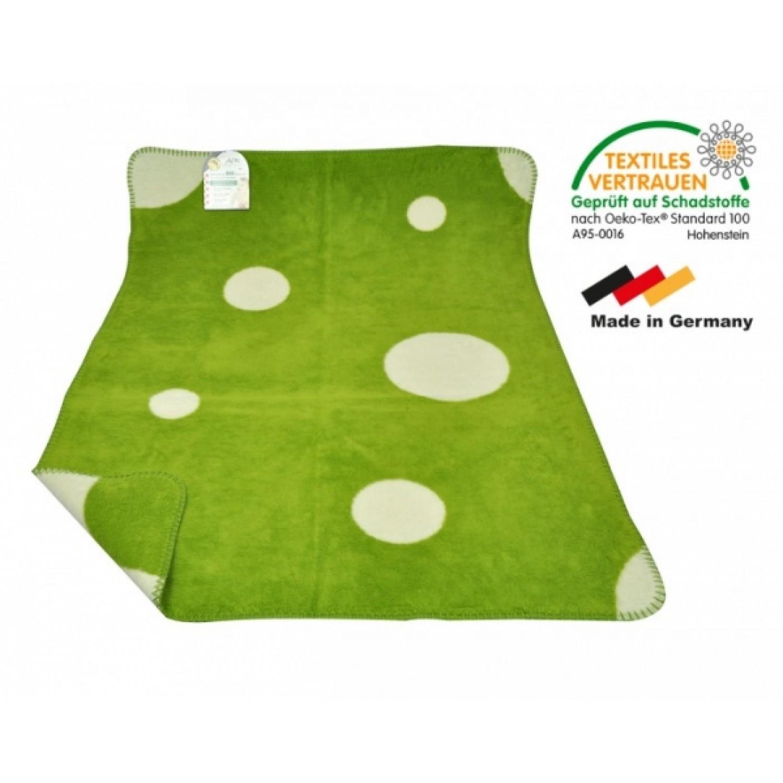 Babydecke Bio-Baumwolle Topfen/Hopfen grün | ASMi