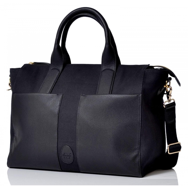 PacaPod Croyde, schwarz - Öko Wickeltasche & stylische Handtasche