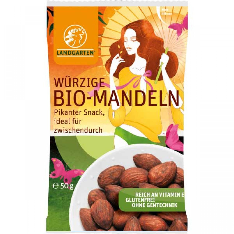 Würzige Bio Mandeln – vegan von Landgarten