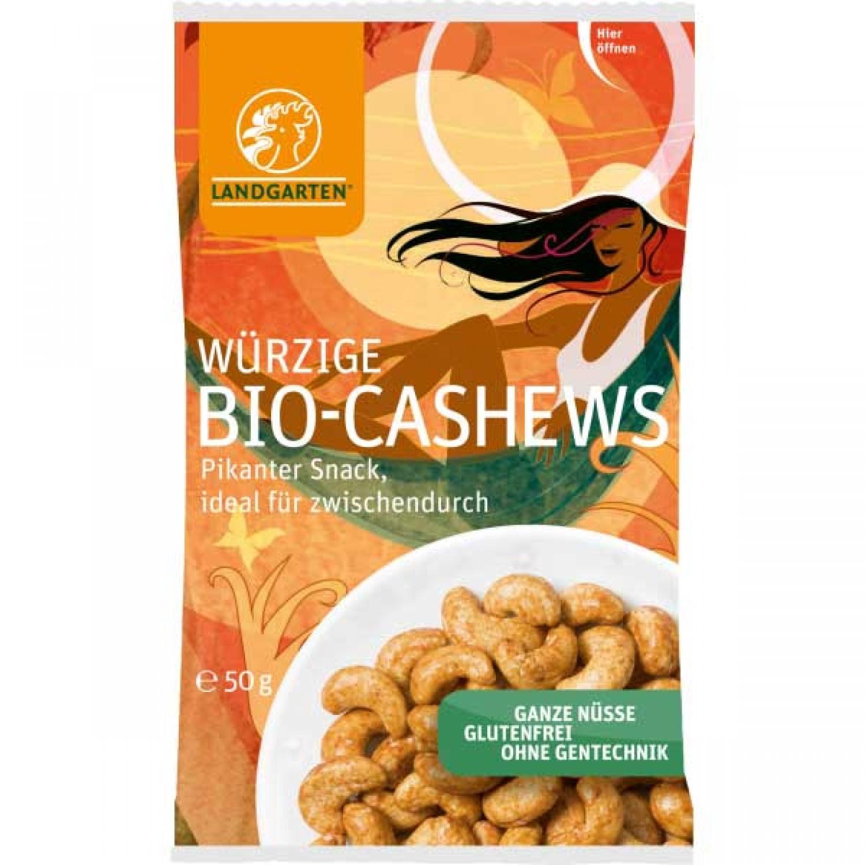 Veganer Snack: Würzige Bio Cashews | Landgarten