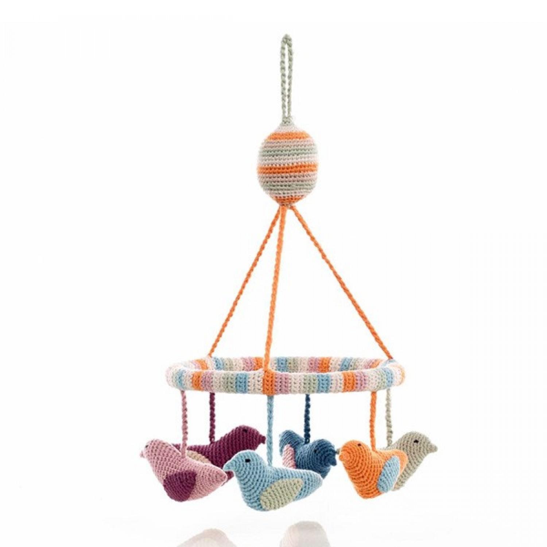 Mobile – Vögel aus Bio-Baumwolle | Pebble