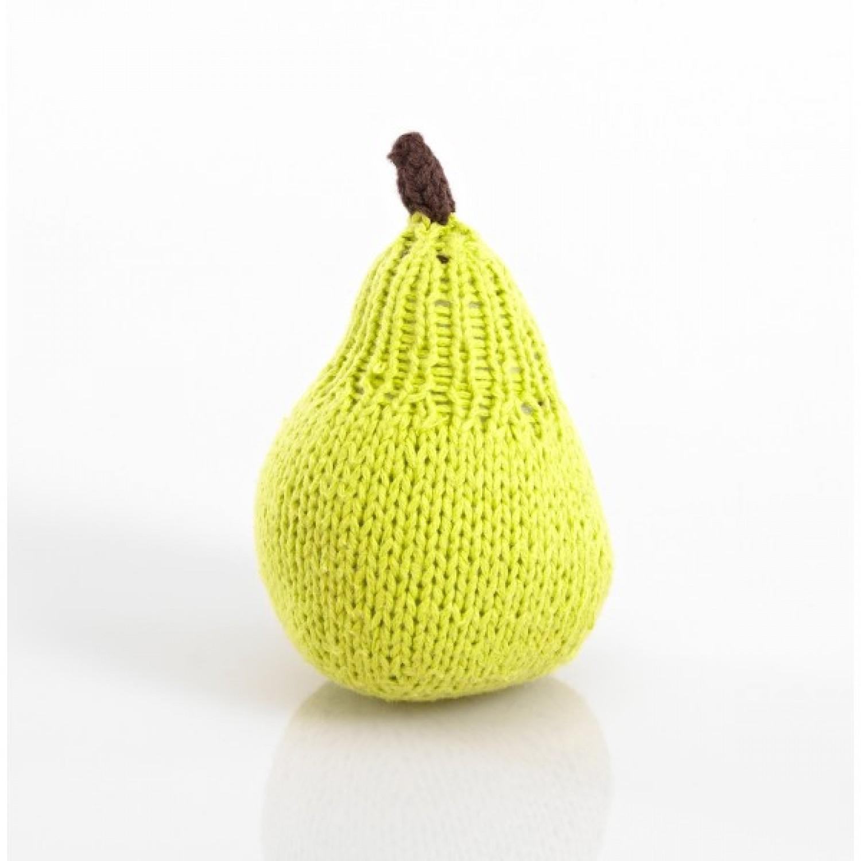 Öko Babyspielzeug Rassel: Birne aus Bio Baumwolle | Pebble