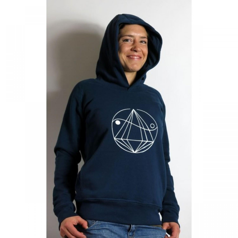 Hoodie Weltenbirke – Kapuzensweatshirt Damen   Diamond Army