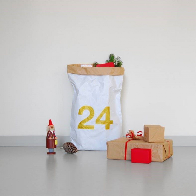 Weihnachts-Papiersack m. Aufdruck Recycling Papier | kolor