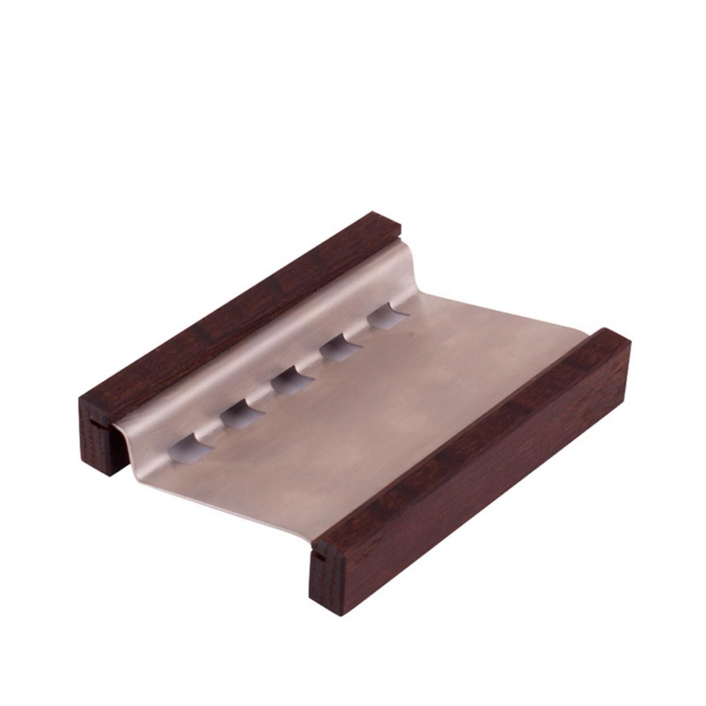 Seifenschale aus Thermoholz mit Edelstahl | Redecker