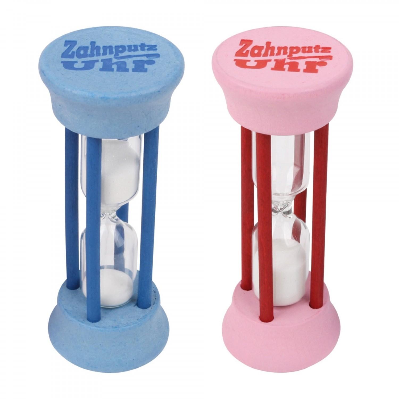 2 Minuten Zahnputzuhr aus Ahornholz & Glas | Redecker