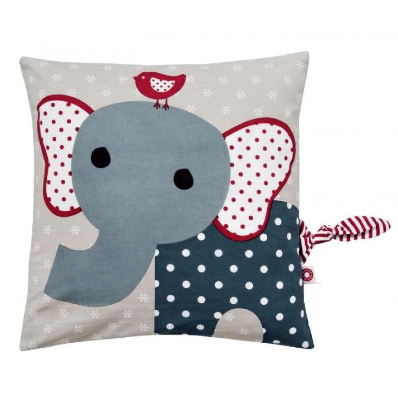 Kinderkissen & Zierkissen Elefant Simon aus Bio-Baumwolle