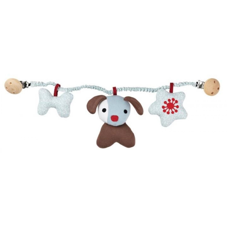 Öko Kinderwagenkette Hund Herbert
