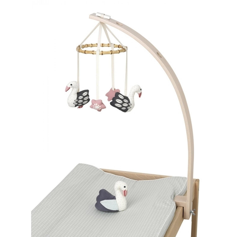 Tisch Mobilehalter Baby Amuse aus Holz | Franck & Fischer