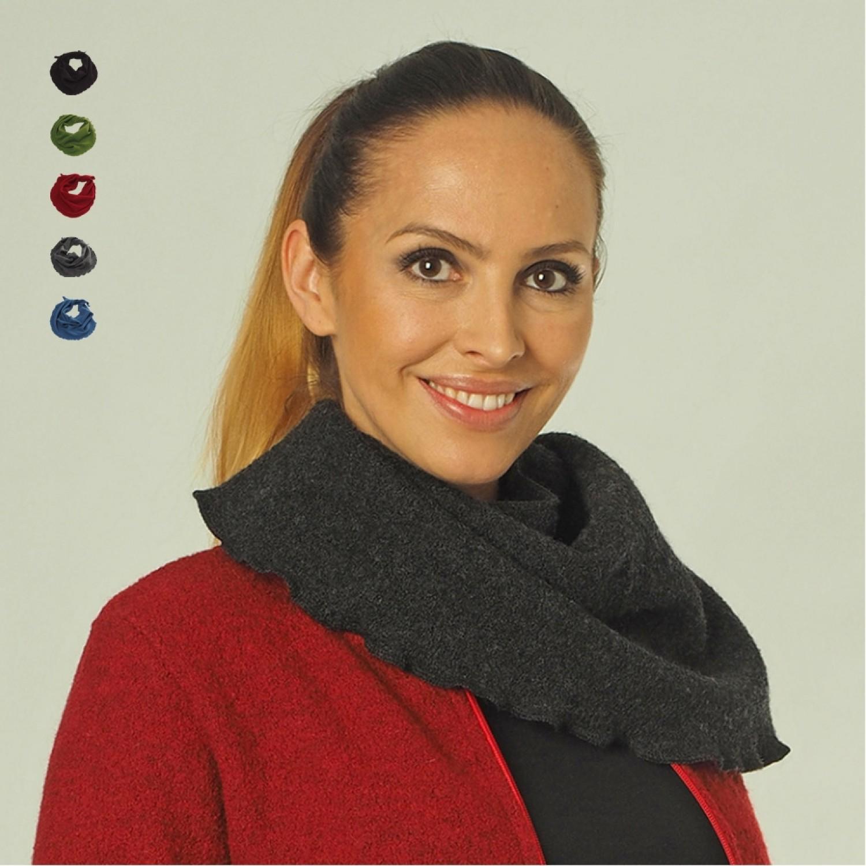 Krepp Schal für Damen aus Bio-Wolle   Reiff Strick
