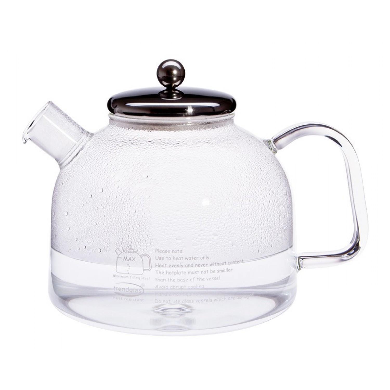 Glas Wasserkocher mit Edelstahldeckel