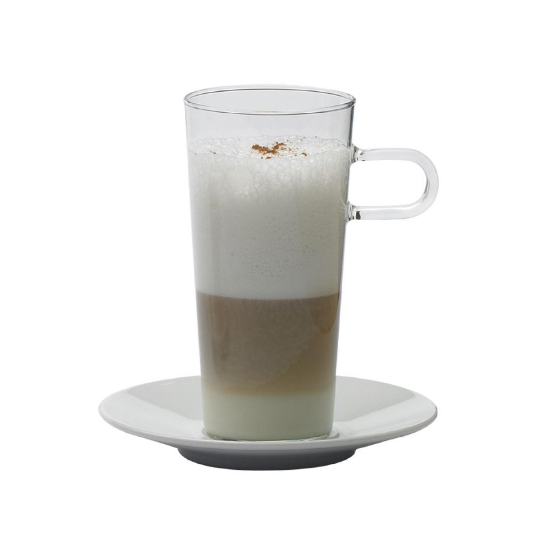 Kaffeeglas COSTA III mit Porzellanunterteller