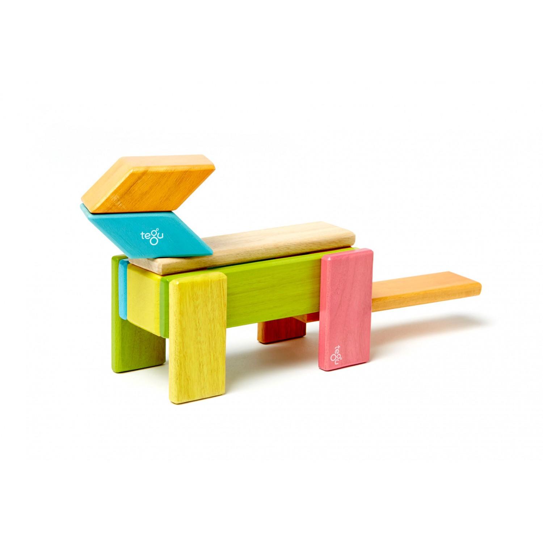 Magnetische Holzblöcke 14-teilig, farbig