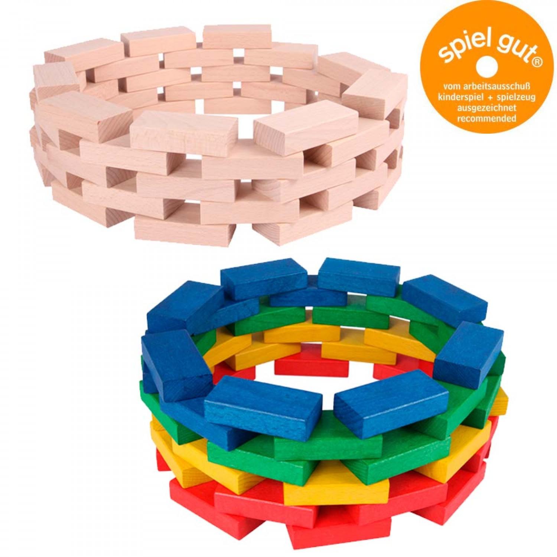 Fröbel-Bausteine in Natur oder Bunt gebeizt | Beck