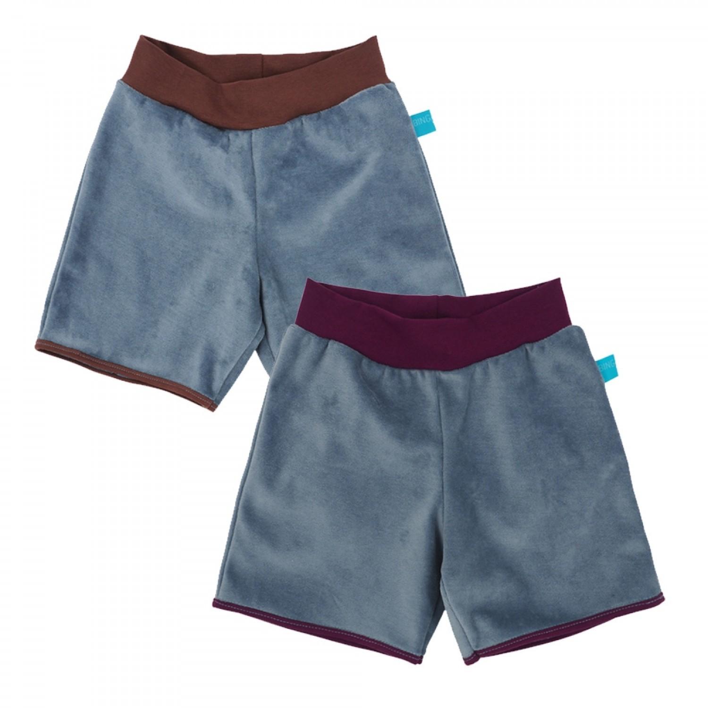 Kinder Bio Nicki Shorts Hellblau mit Kontrastbund » bingabonga