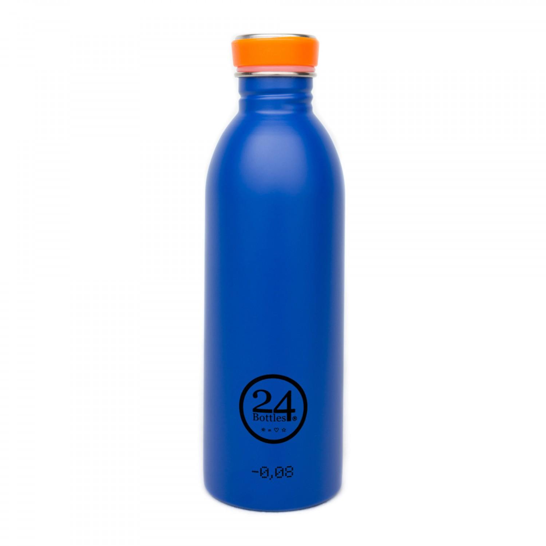 Edelstahl Trinkflasche 0,5L gold blue | 24Bottles