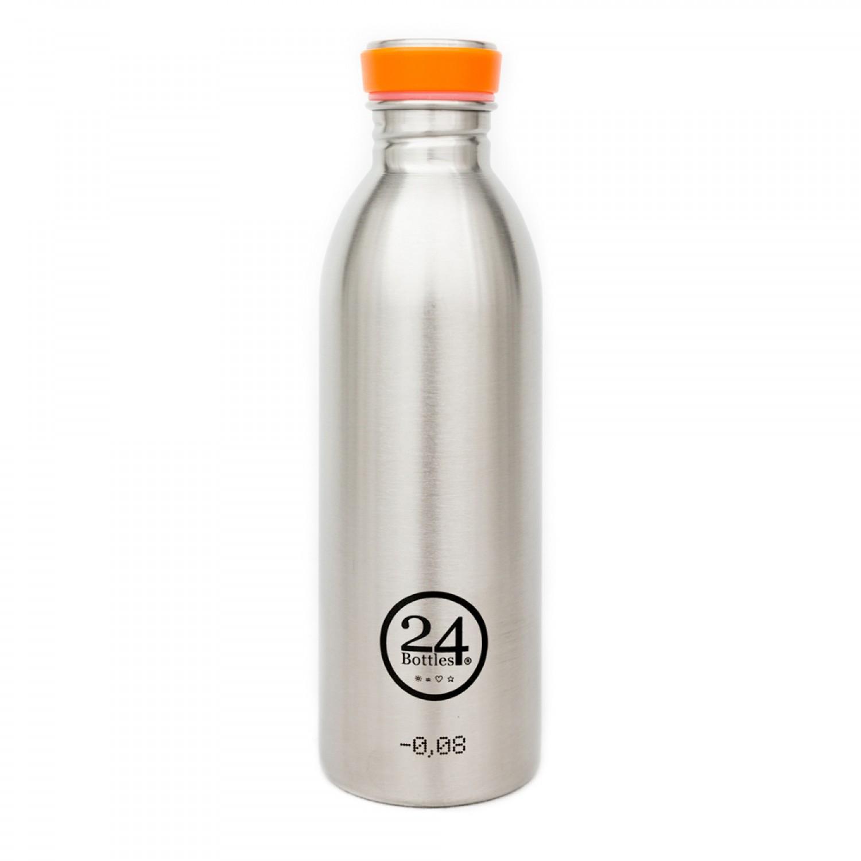 Edelstahl Trinkflasche 0,5L steel | 24Bottles