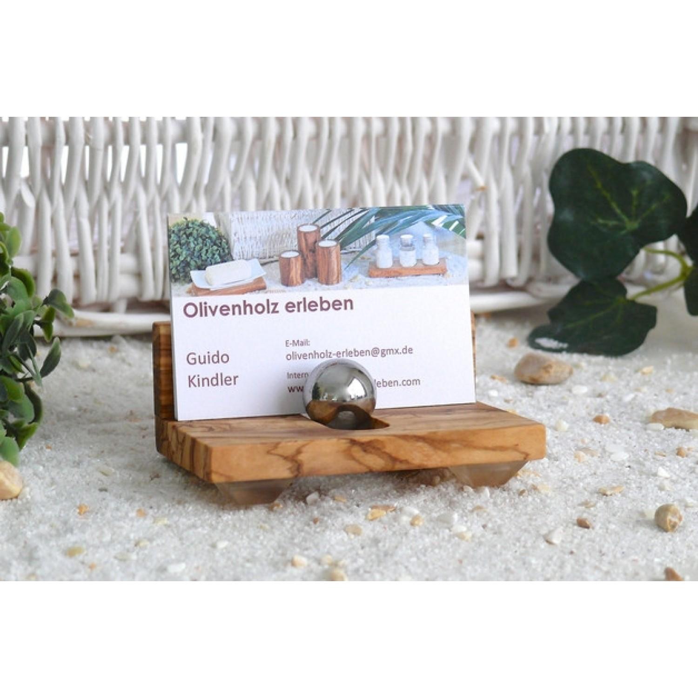 Visitenkartenhalter aus Olivenholz | Olivenholz erleben