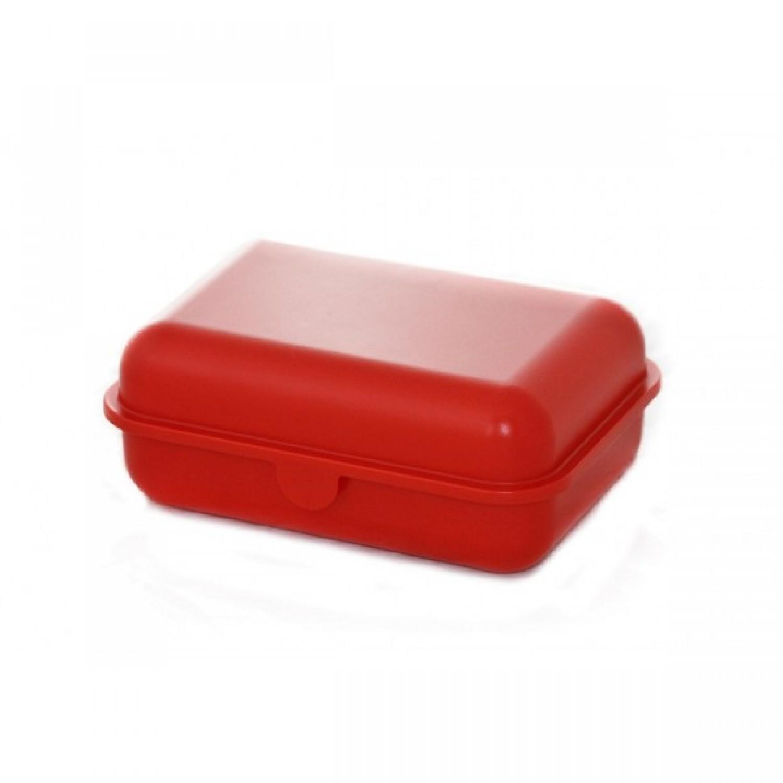 Rote Brotdose aus Biokunststoff | Biofactur