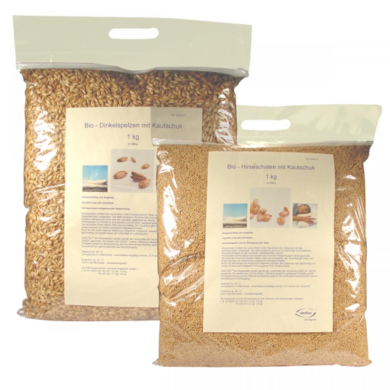 Bio Hirseschalen mit Kautschuk - Nachfüllpackung
