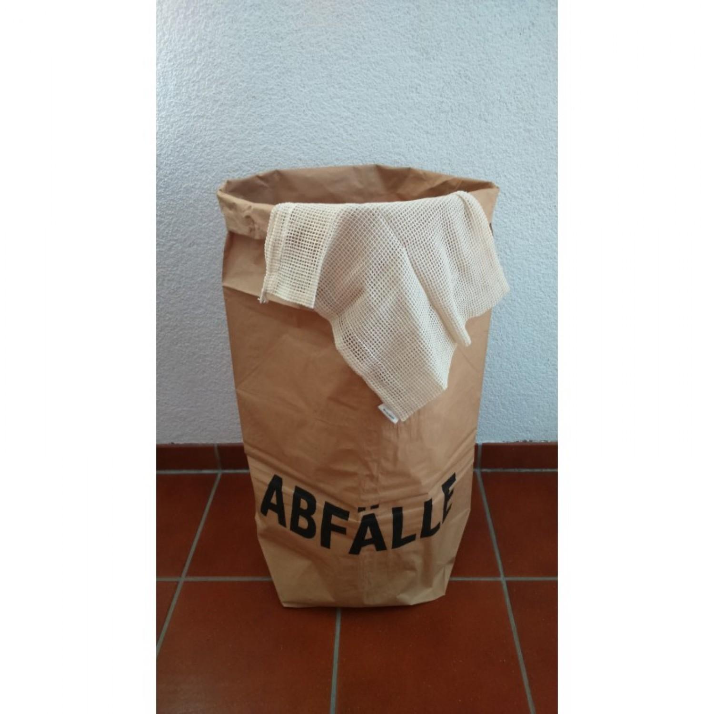 Papiersack und Obst- und Gemüsenetz