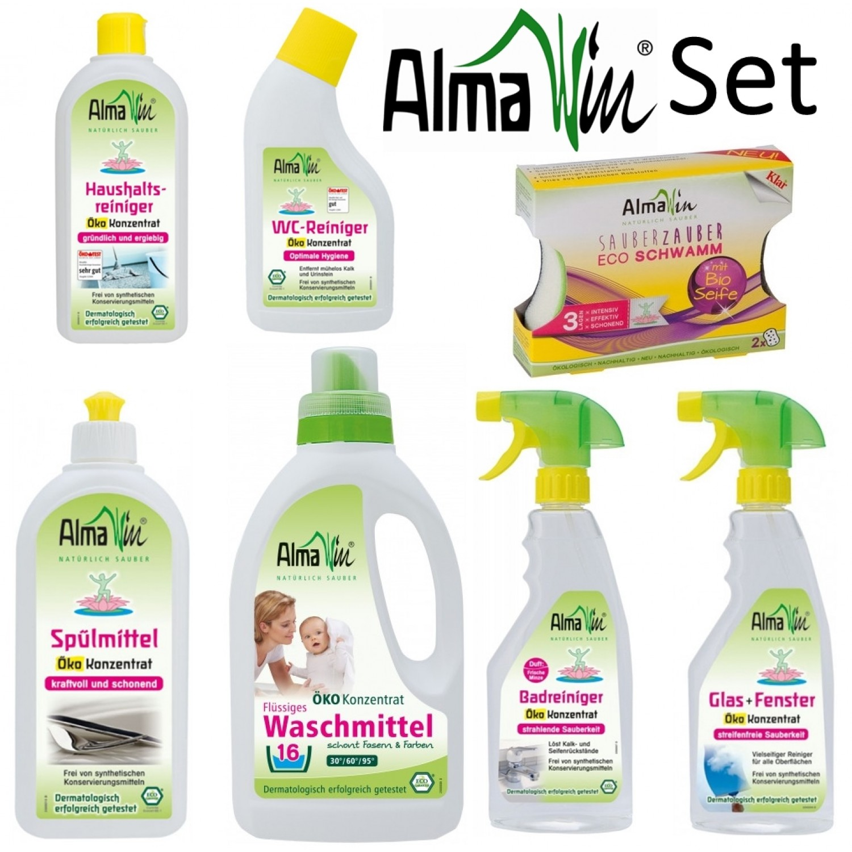 Vegan & Öko Wasch- und Putzmittel im 7er Set | AlmaWin