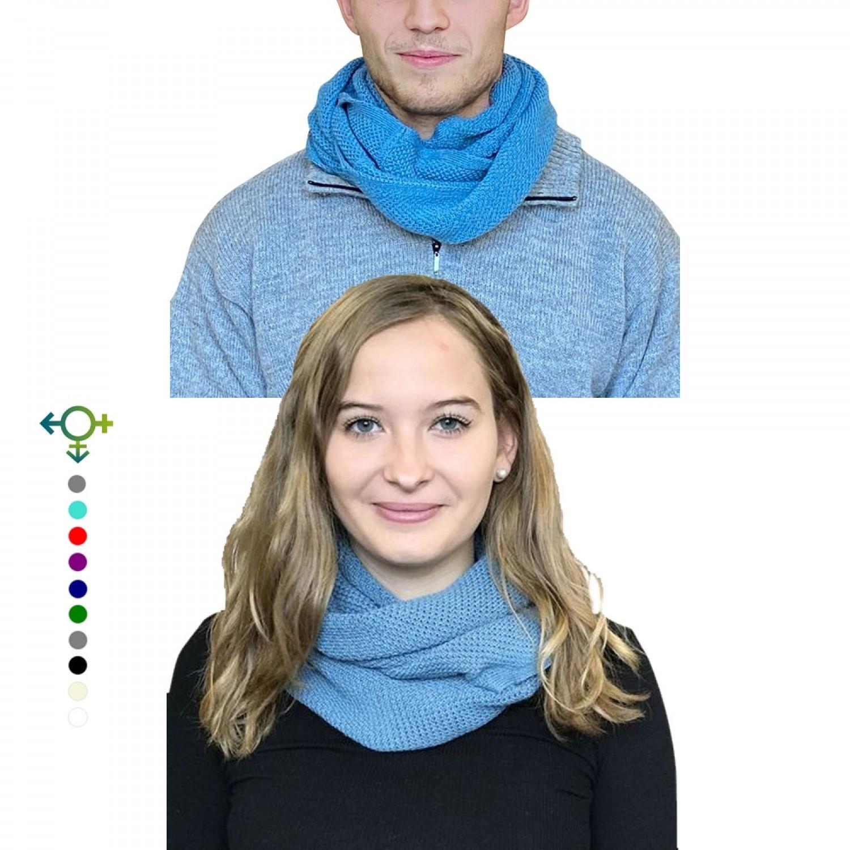 Albwolle Alpaka Loopschal für Damen & Herren & Unisex, Petrol