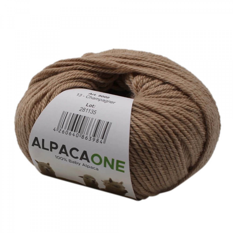 Alpacaone Baby Alpaka Wolle Knäuel 50g champagner OEKO-TEX