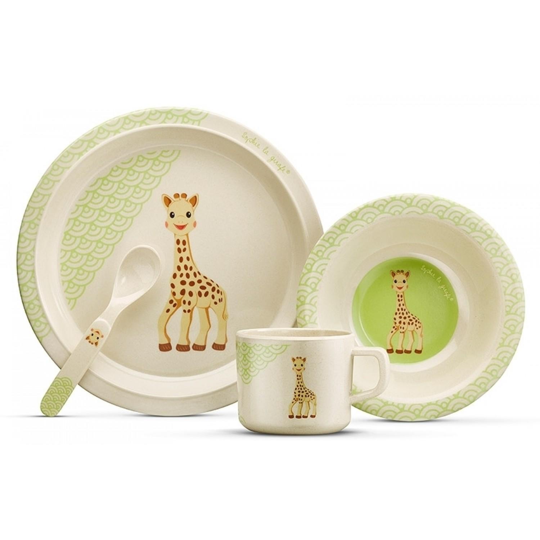 Bambus Kindergeschirr-Set Sophie la girafe Kollektion SO'PURE