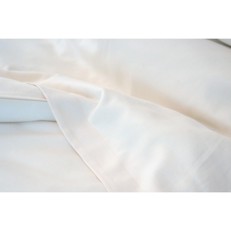 Bio Bettlaken ohne Gummizug aus Bio-Baumwoll-Satin | ia io