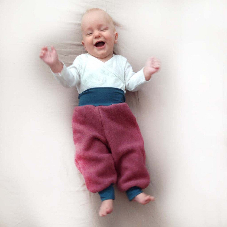 Baby Bio-Fleece Gemütlichkeitshose altrosa | bingabonga