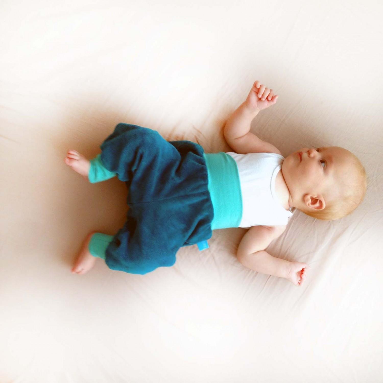 Baby Bio-Nicki Gemütlichkeitshose Petrol/Mint | bingabonga