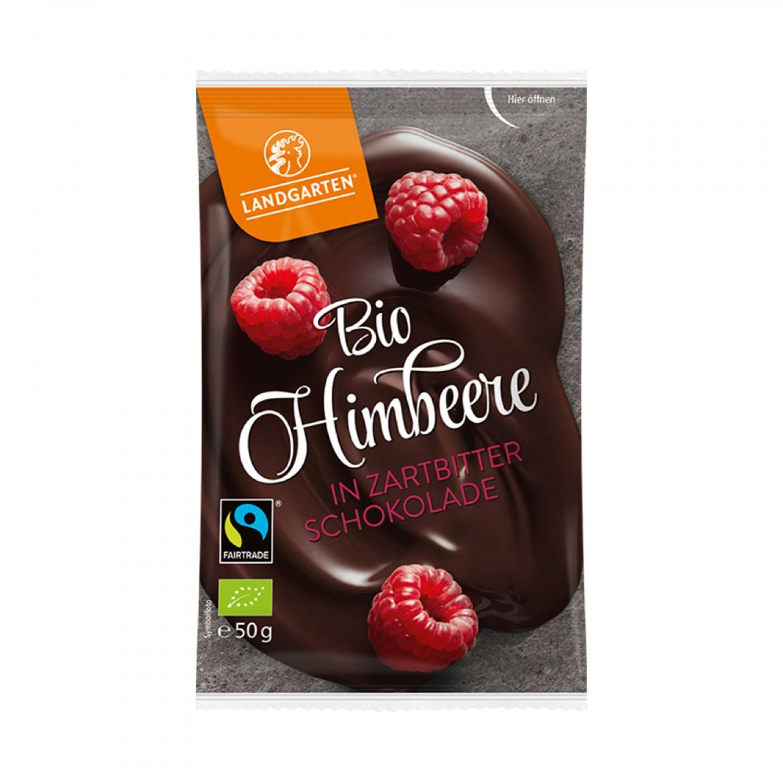 Bio Himbeere in Zartbitterschokolade - vegan | Landgarten