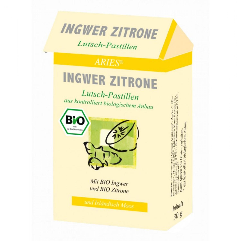 Bio Ingwer-Zitrone Lutschpastillen