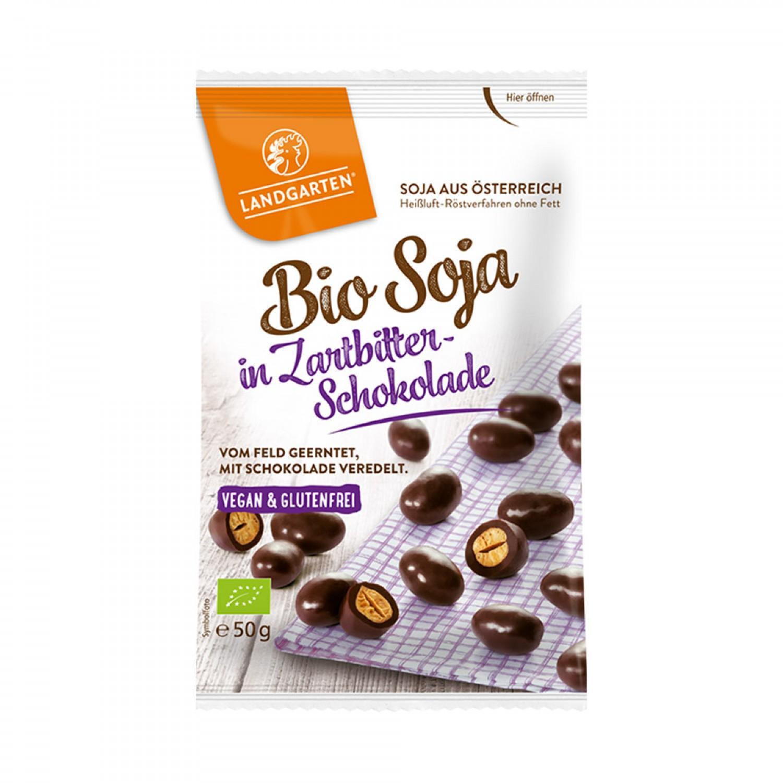 Vegan & Bio Soja in Zartbitter-Schokolade | Landgarten
