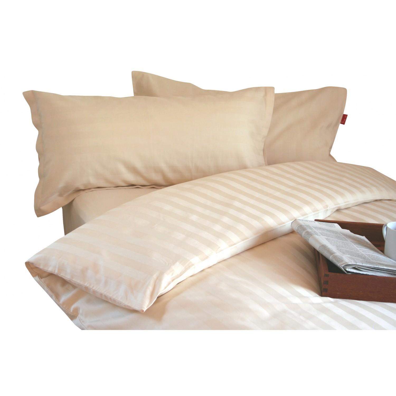 Bio-Bettwäsche aus Baumwoll-Satin Streifen klassisch | iaio
