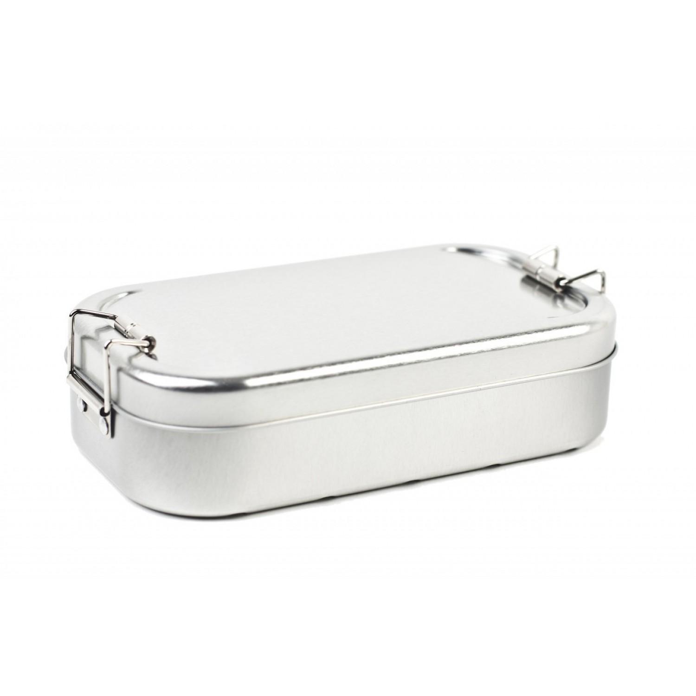 Plastikfreie Lunchbox Classic Smart SILBER » Tindobo