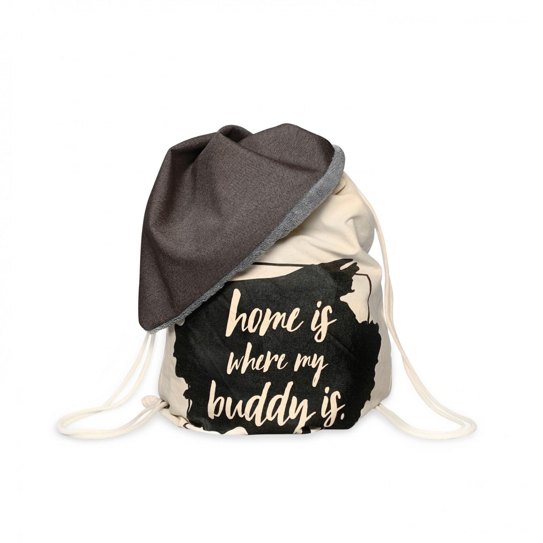 BUDDY Büggel braun-grau, Hundedecke & Rucksack für unterwegs