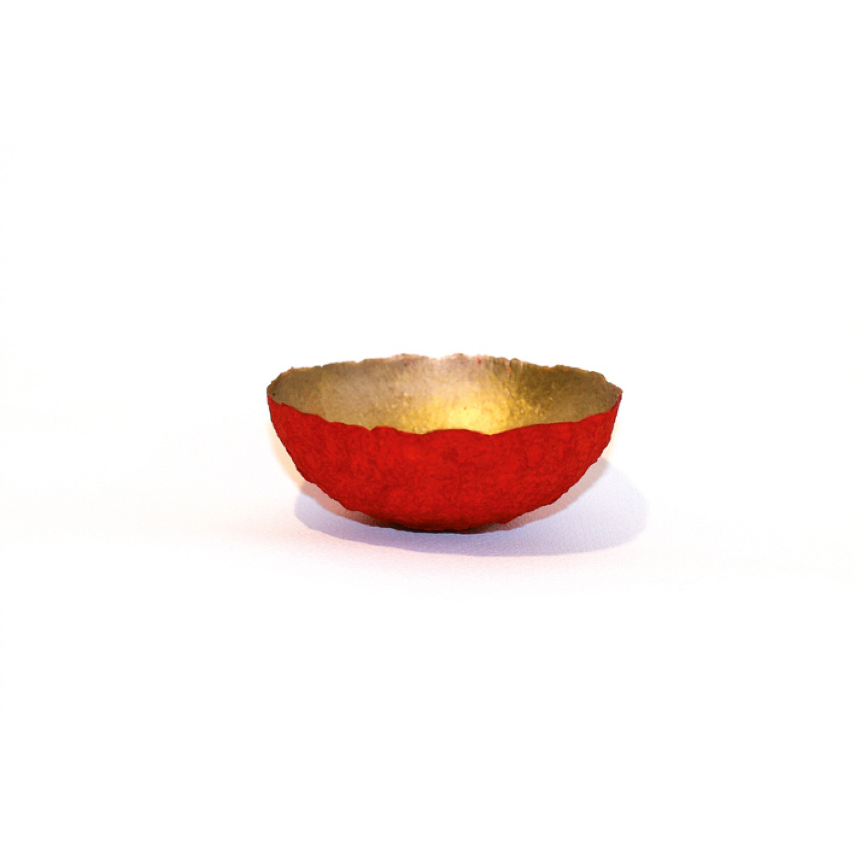 Deko- und Schmuckschale Rot/Gold | Sundara Paper Art