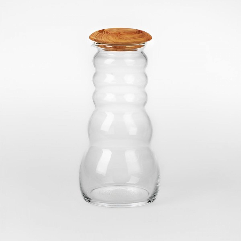 Wasserkrug Cadus mit Olivenholz-Deckel | Nature's Design