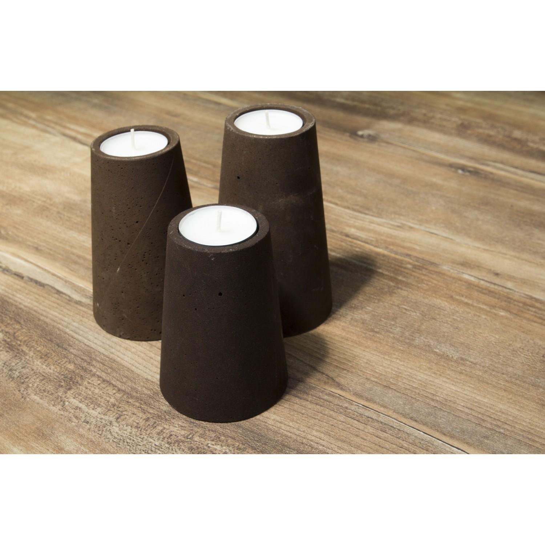Designer Teelichthalter aus Kaffeesatz im 3er Set | Decafé