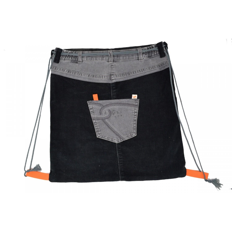 de03dd9d2799f Gymbag Black Grey - Turnbeutel aus Kord   Jeans UNIKAT