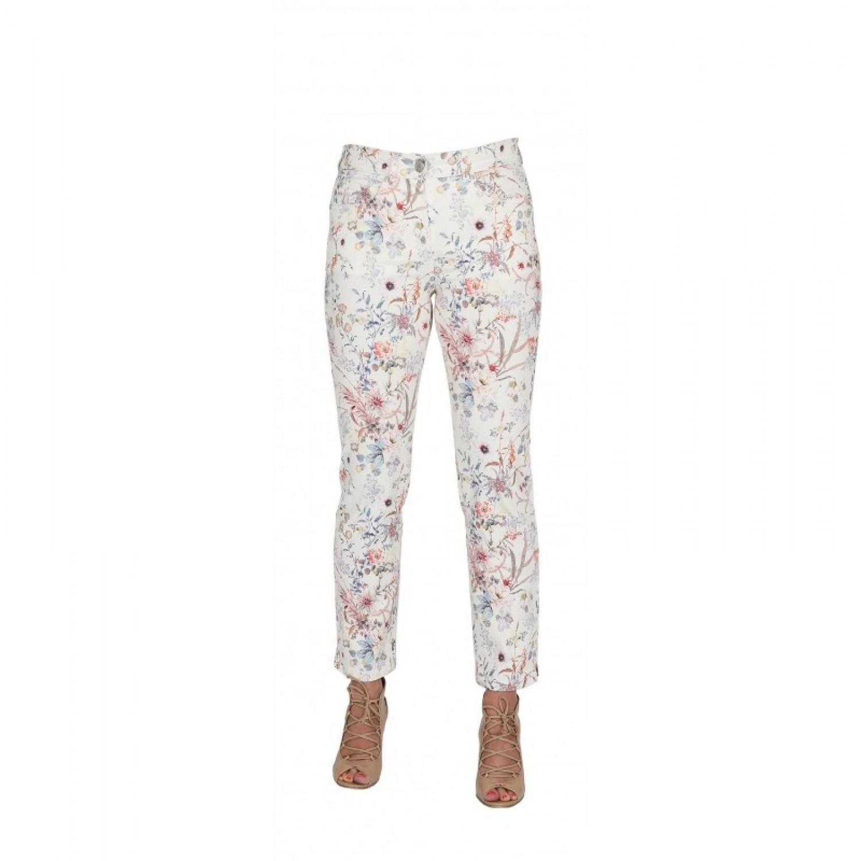 bloomers 7/8 Damehose mit Blumenprint – Bio Baumwolle