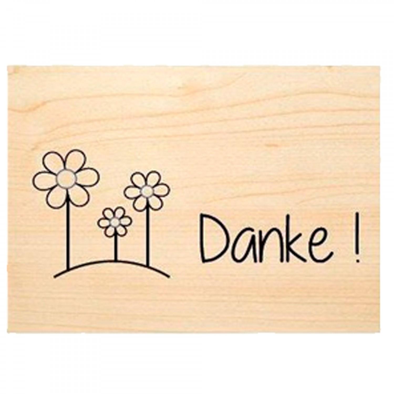 Sag's mit Natur Holzkarte - DANKE - PEFC Buchenholz   Biodora