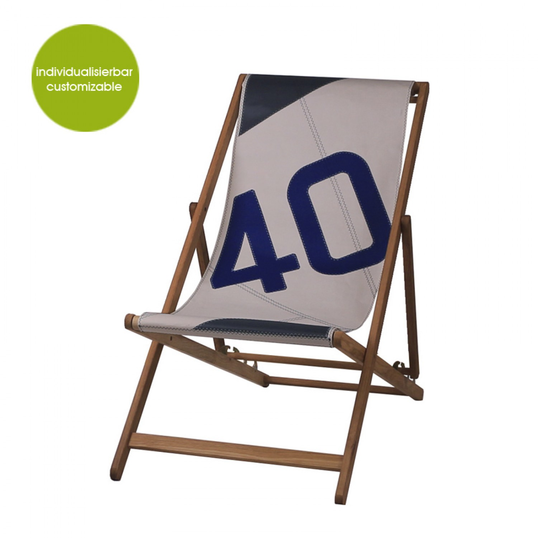 Upcycling Deckchair »Transatlantic 40« aus Segeltuch | Marron