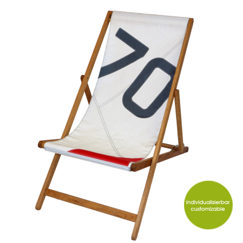 Weiß-Blau-Rot Deckchair Transatlantic 70   Marron Rouge