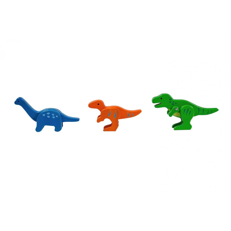 EverEarth Dinosaurier Zoo - Holzfiguren aus FSC® Bambus