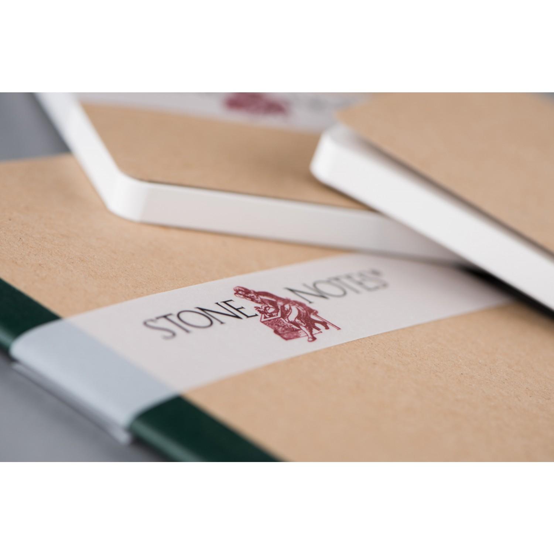 StoneNotes® – Notizheft 3er Set | grün gedruckt